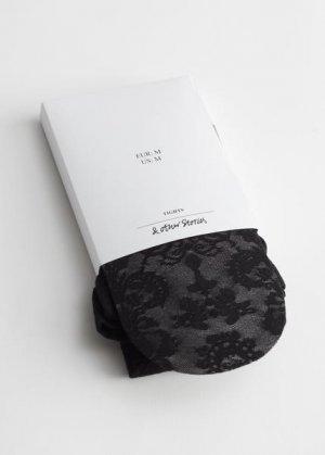 Колготки с кружевной вышивкой &Other Stories. Цвет: черный