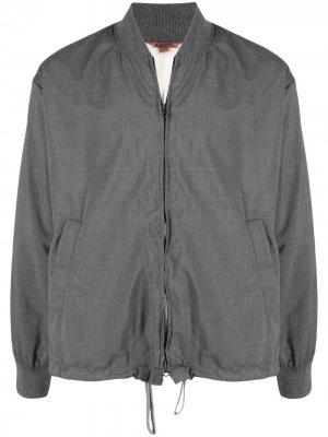Легкая куртка с кулиской Barena. Цвет: серый