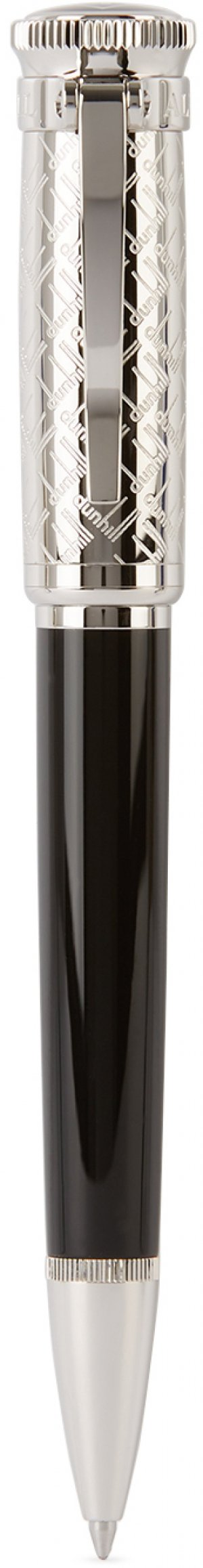 Silver & Black Sentryman Signature Ballpoint Pen Dunhill. Цвет: 1 black