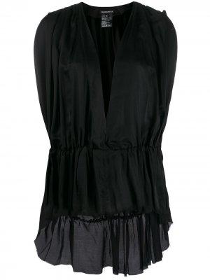 Блузка с глубоким V-образным вырезом Ann Demeulemeester. Цвет: черный