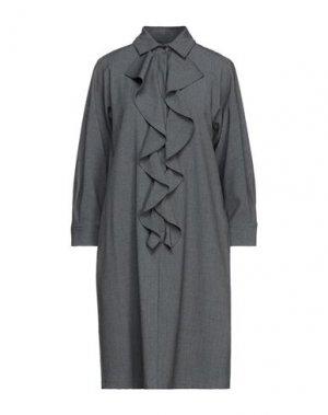 Короткое платье BLACK LABEL. Цвет: свинцово-серый