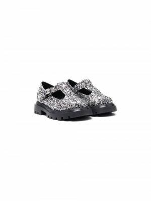 Glitter-embellished sandals Florens. Цвет: серебристый