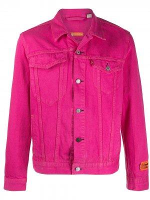 Джинсовая куртка с логотипом Heron Preston. Цвет: розовый
