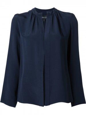 Рубашка с воротником-стойкой Derek Lam. Цвет: синий