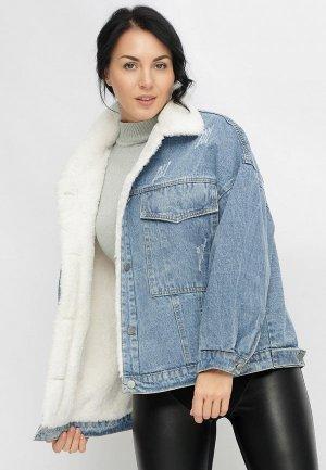 Куртка джинсовая Bellart. Цвет: голубой