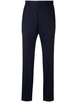 Классические брюки Boss Hugo. Цвет: синий