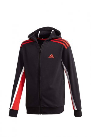 Толстовка B BOLD FZ HD adidas. Цвет: черный