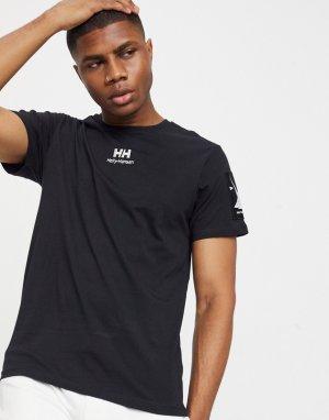 Черная футболка с логотипом -Черный Helly Hansen