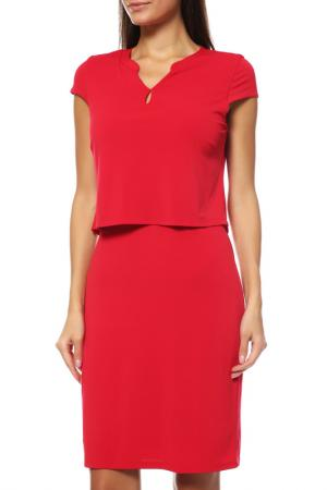 Платье Comma. Цвет: красный