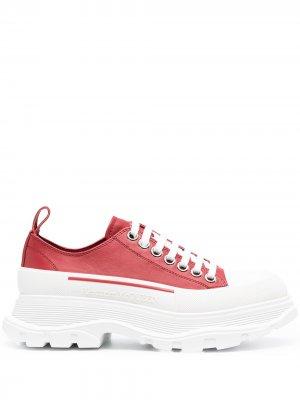 Кроссовки на платформе Alexander McQueen. Цвет: красный