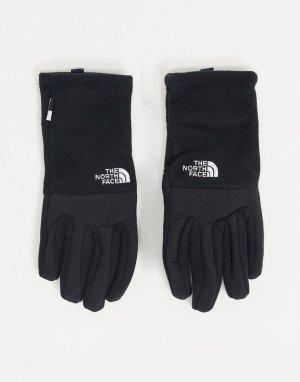Черные перчатки для сенсорных экранов Denali-Черный цвет The North Face