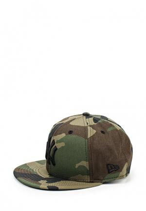 Бейсболка New Era CAMO 9FIFTY. Цвет: хаки