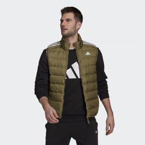 Пуховый жилет Essentials Performance adidas. Цвет: оливковый