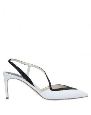 Туфли RENE' CAOVILLA. Цвет: белый