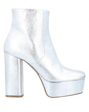 Полусапоги и высокие ботинки P.A.R.O.S.H.. Цвет: серебристый