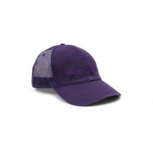 Хлопковая бейсболка Heron Preston. Цвет: фиолетовый