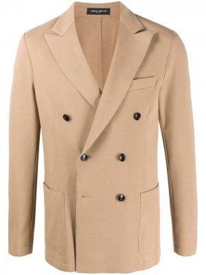 Двубортный пиджак Frankie Morello. Цвет: нейтральные цвета