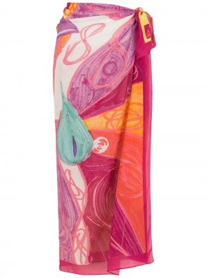 Парео с абстрактным принтом Amir Slama. Цвет: розовый