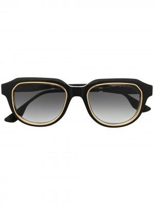 Очки в оправе черепаховой расцветки Dita Eyewear. Цвет: черный