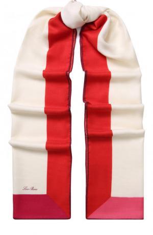 Шаль Stola LInfinito из смеси кашемира и шелка Loro Piana. Цвет: красный
