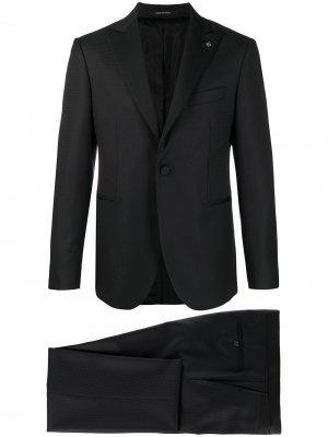 Костюм с однобортным пиджаком Tagliatore. Цвет: черный