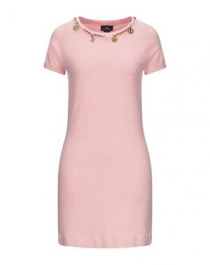 Короткое платье ELISABETTA FRANCHI. Цвет: лососево-розовый