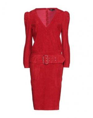 Платье миди JITROIS. Цвет: красный
