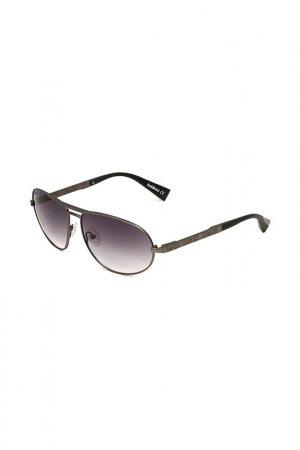 Очки солнцезащитные Baldinini. Цвет: серый