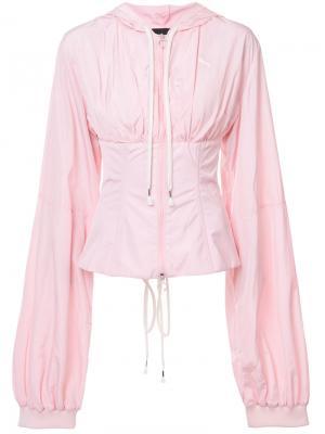Ветровка с корсетом Fenty X Puma. Цвет: розовый и фиолетовый