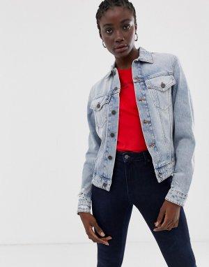 Джинсовая куртка с потертостями -Синий Cheap Monday