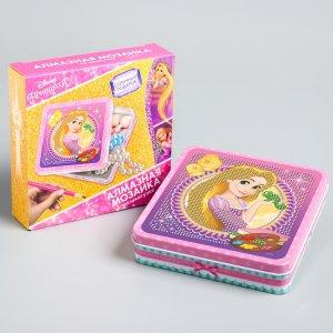 Алмазная мозаика на шкатулке принцессы: рапунцель, 14 x 13,6 см Disney