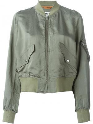 Lightweight bomber jacket Mm6 Maison Margiela. Цвет: зелёный