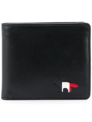 Классический бумажник Maison Kitsuné. Цвет: черный