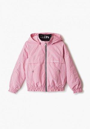 Куртка утепленная Calvin Klein Jeans. Цвет: розовый