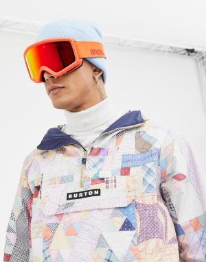 Защитные очки горнолыжника со сменными красными стеклами Helix 2 Sonar Anon. Цвет: красный