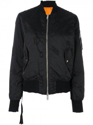 Куртка-бомбер на молнии UNRAVEL PROJECT. Цвет: черный