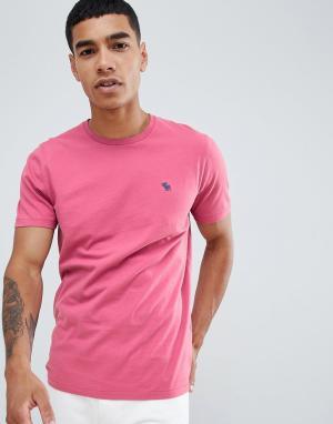 Ярко-розовая футболка с логотипом pop icon Abercrombie & Fitch. Цвет: розовый