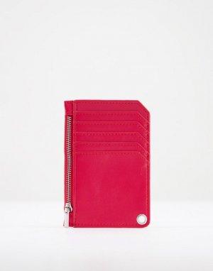 Визитница красного цвета с петелькой -Красный SVNX