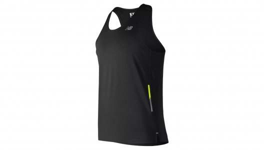 Топы, майки NB ICE 2E SINGLET New Balance. Цвет: черный