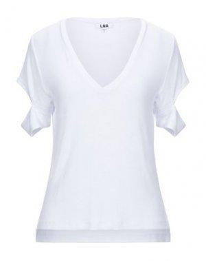 Футболка LNA. Цвет: белый