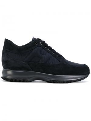 Кроссовки с панельным дизайном Hogan. Цвет: синий
