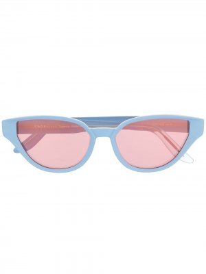 Солнцезащитные очки Sfitinzia в оправе кошачий глаз Snob. Цвет: синий