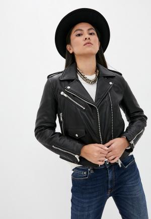 Куртка кожаная Dondup. Цвет: черный