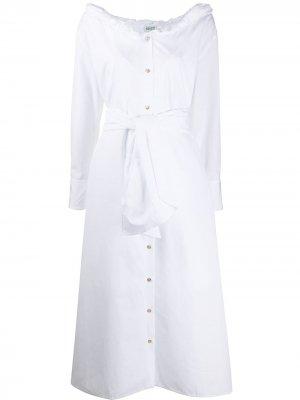 Платье миди на пуговицах с поясом Kenzo. Цвет: белый