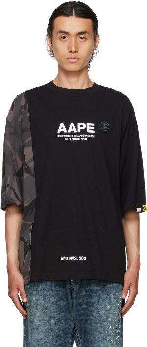 Black Camo Logo T-Shirt AAPE by A Bathing Ape. Цвет: bkx black