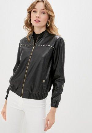 Куртка кожаная Perspective. Цвет: черный