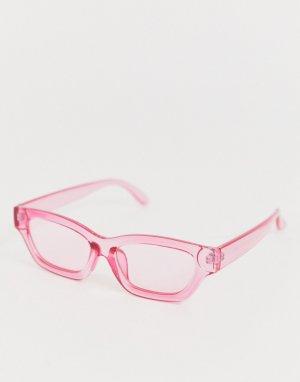 Розовые квадратные солнцезащитные очки -Розовый AJ Morgan