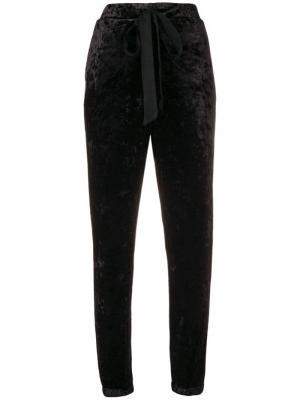 Бархатные спортивные брюки Aniye By. Цвет: черный