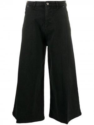 Укороченные джинсы средней посадки Emporio Armani. Цвет: черный