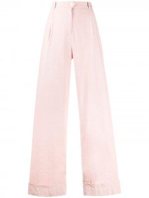 High-waisted wide leg trousers Rag & Bone. Цвет: розовый